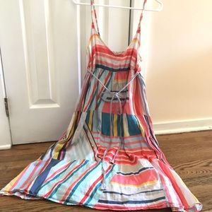 Long sleeve maxi dress colorful pattern size M